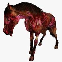 3d zombie horse animal model