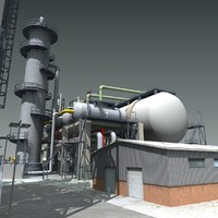3d refinery industry factory model