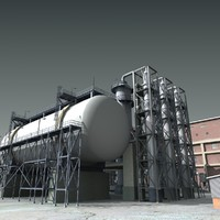 3ds max refinery industry factory