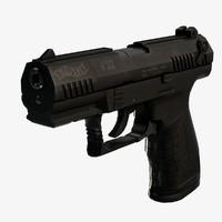 walther p22 pistol 3d c4d