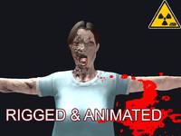 3d model of zombie female