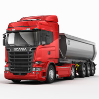 c4d scania r tipper trailer