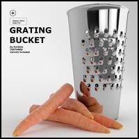 grating bucket 3d model