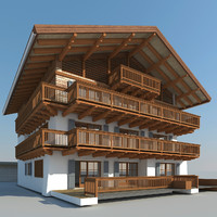 3ds max tyrolean house