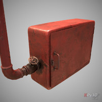old fire hose box