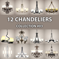 3d 12 chandelier lights