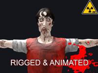 male zombie 3d fbx