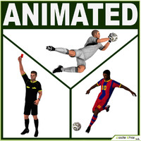 3d model team soccer