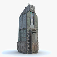 Sci fi Building 10 Futuristic Modern