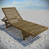 beach sunbed 3d max