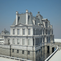 3ds max house chateau