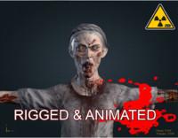3d female zombie
