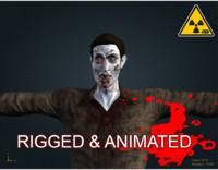 3d model male zombie