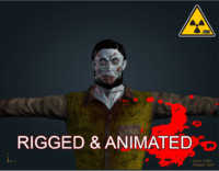 3ds max male zombie