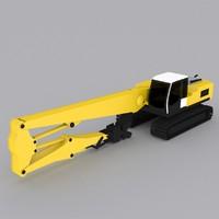 3ds max crawler excavator r934c