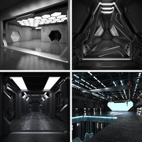 4 Sci Fi Interiors Set