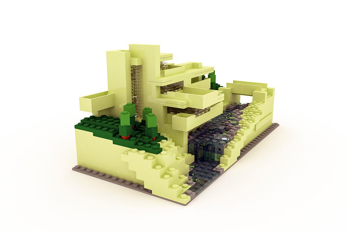 3d model fallingwater lego - Lego falling waters ...