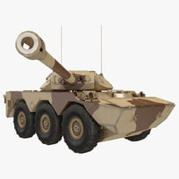 Armoured Vehicle AMX 10 RC Rigged