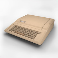 3d model apple iie