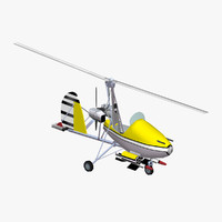 3d model little nellie autogyro