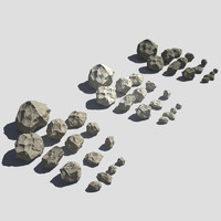 3d model rocks pack v-ray