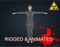 zombie female 3d model