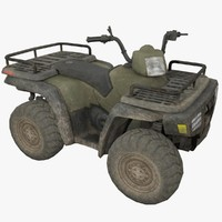 3d model atv vehicle rigged