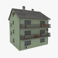 storey apartment building 3d model