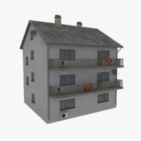 3d rural apartment building