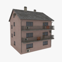 3d storey apartment building model