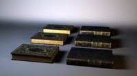 3d realistic old book model