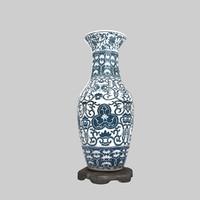 porcelain large vases 3d model