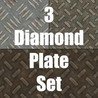 3 Diamond Plate Textures