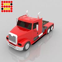 3d model truck modeled