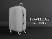 travel bag bee 3d obj