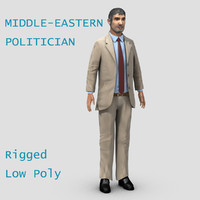 middle eastern politician 3d model