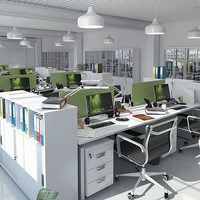 stylish office equipment 3d max