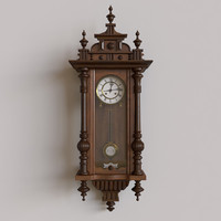 antique pendulum wall clock 3d model
