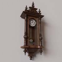 obj antique pendulum wall clock