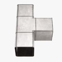 3d model square pipe