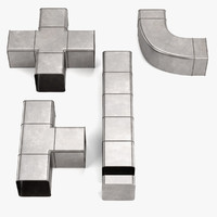 square pipes 3d model