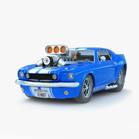 classic muscle car 3d model