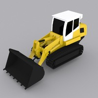 3d model crawler loader lr624