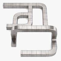 3d square pipe model