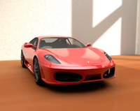 3ds max f430 car realistic
