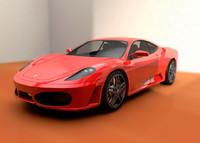 3d f430 car realistic