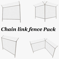 3d model fence barbed wire