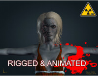 3ds max zombie male