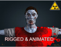 3d zombie male