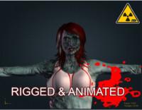 3d model zombie female